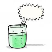Cartoon chemical beaker — Stock Vector