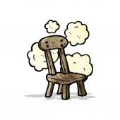 Kreskówka krzesło starej szkoły — Wektor stockowy