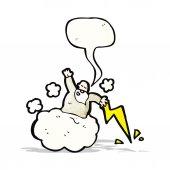 God on cloud cartoon — ストックベクタ