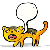 Comic tiger — Stockvektor