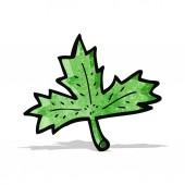 Cartoon leaf — Stock Vector