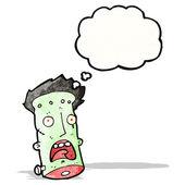 Cartoon frankenstein's monster head — Stock Vector