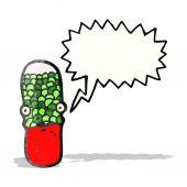 Cartoon-drogen-kapsel — Stockvektor