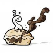 Cartoon meat pie — Vettoriale Stock