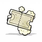 Cartoon old movie ticket — Stock Vector