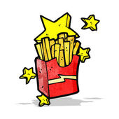 Cartoon take out fries — Stockvektor