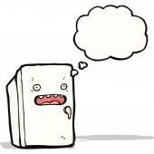 Cartoon refrigerator — Vector de stock