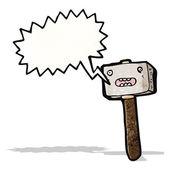 Cartoon hamer — Stok Vektör