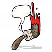 Karikatür boya fırçası — Stok Vektör