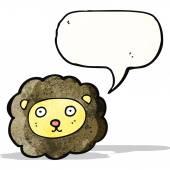 Cartoon leeuw gezicht — Stockvector