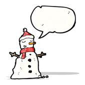 Cartoon sneeuwpop — Stockvector
