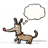 Cartoon reindeer — Cтоковый вектор