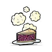Heiße kirschkuchen cartoon — Stockvektor