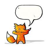 Cartone animato volpe — Vettoriale Stock