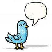 Cartoon vogel singen — Stockvektor