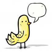 Canto degli uccelli dei cartoni animati — Vettoriale Stock