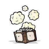 Tozlu eski kitap çizgi film — Stok Vektör