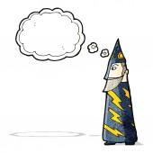 Cartoon wizard — Stok Vektör