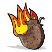Catoon burning fake beard — Stock Vector
