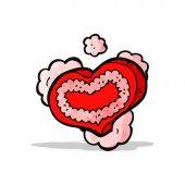 Heart symbol cartoon — Stock Vector