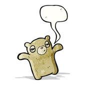 Tired little bear cartoon — Vettoriale Stock