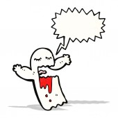 Cartoon shrieking ghost — Stock Vector