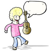 Cartoon sixties guitar player — Vettoriale Stock