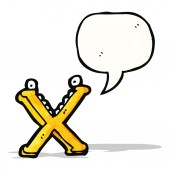 Karikatür harf x — Stok Vektör