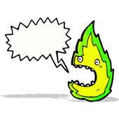 мультфильм зеленый огонь — Cтоковый вектор