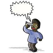 мультфильм человек с пистолетом в голову — Cтоковый вектор