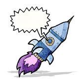 漫画の宇宙船 — ストックベクタ