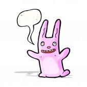 Cartoon roze konijn — Stockvector