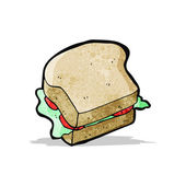 Cartoon-sandwich — Stockvektor