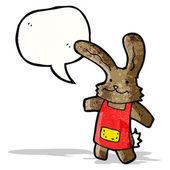 Cartoon rabbit with speech bubble — Stock Vector