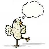 Cartone animato uccello — Vettoriale Stock