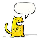 Cartoon scheming cat — Stock Vector