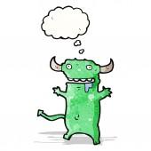 卡通恶魔与思想泡泡 — 图库矢量图片
