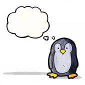 Tecknad pingvin — Stockvektor