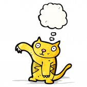 Cartoon cat with thought bubble — Stockvector