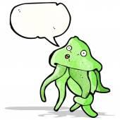 Cartoon squid — Stockvector