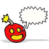 Crazy bomb with speech bubble — Vector de stock