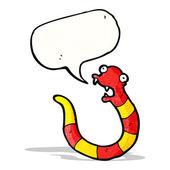 Cartoon slang met tekstballon — Stockvector