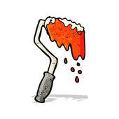 Paint roller cartoon — Stock Vector