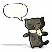 Cartoon black cat — Cтоковый вектор