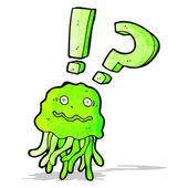 Crazy cartoon jellyfish — Stock Vector