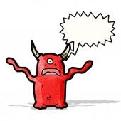 Shrieking demon cartoon — Stock Vector