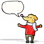 Cartoon dog with speech bubble — Cтоковый вектор