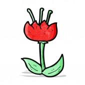 мультфильм тюльпан — Cтоковый вектор