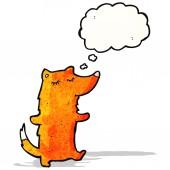 Cartone animato intelligente volpe — Vettoriale Stock