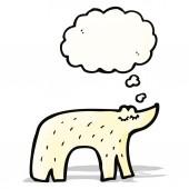 Cute cartoon polar bear — Stock Vector